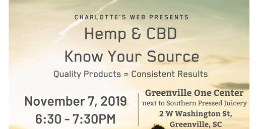 "Charlotte's Web Presents ""Hemp & CBD, Know Your Source"""