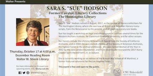 "Sara S. ""Sue"" Hodson, Former Curator - The Huntington Library"