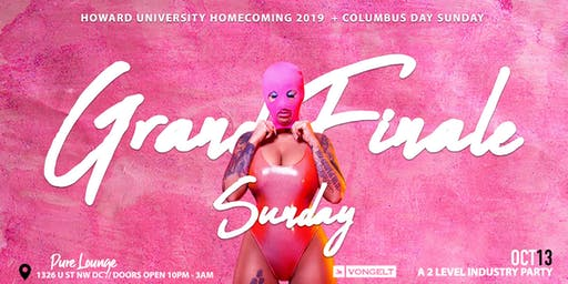 Grand FInale Sunday - HU Homecoming / Columbus Day Edition