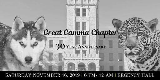 Gamma Chapter's 30 Year Anniversary Celebration