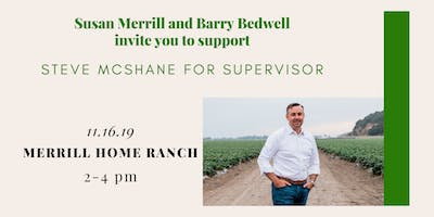 Susan Merrill  and Barry Bedwell invite you to support Steve McShane