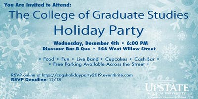 College of Graduate Studies Holiday Party