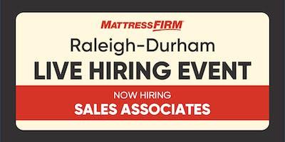 Raleigh-Durham & Surrounding Cities - Live Hiring Event