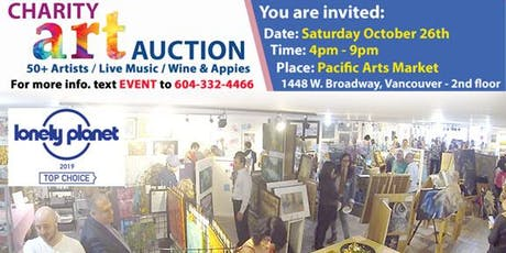 [Free Event] Charity Art Auction October 26, 2019 - Pacific Arts Market tickets