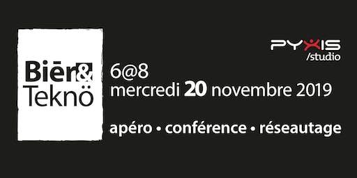Bière et Techno - 20 novembre 2019 - Soirée conférence sur les tendances technologiques