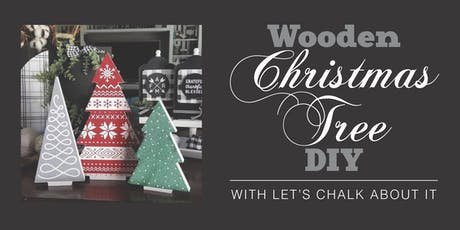 Wooden Christmas Tree DIY tickets