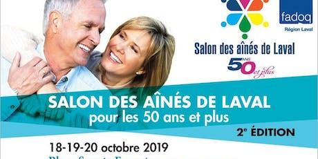 Venez nous rencontrer au Salon des aînés de Laval billets