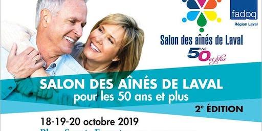 Venez nous rencontrer au Salon des aînés de Laval