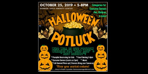 Bannon Lakes Halloween Potluck & Costume Party!