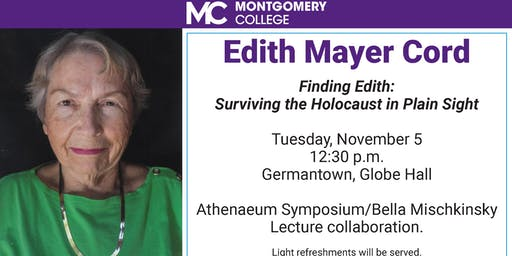"Edith Mayer Cord in ""Findind Edith: Surviving the Holocaust in Plain Sight"""