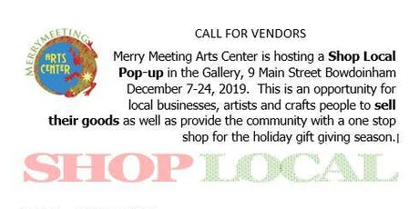 Merrymeeting Art Center Shop Local Pop-Up Vendor Sign Up tickets