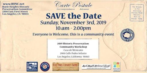 2019 Historic Preservation Community Workshop
