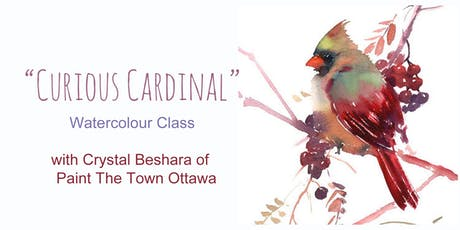 Curious Cardinal Watercolour with Crystal Beshara tickets