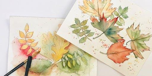 Fall Leaves Watercolor Workshop