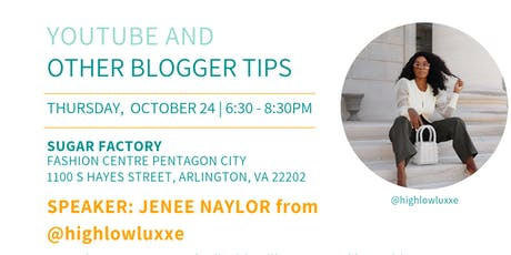 DC Bloggers October Meetup: YouTube and Tips for Bloggers tickets