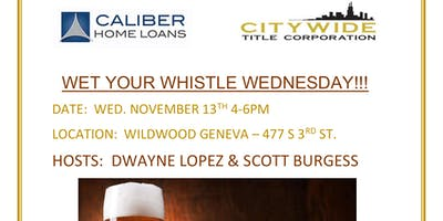 CALIBER & CITY WIDE WHET YOUR WHISTLE WED W/DWAYNE LOPEZ & SCOTT BURGESS!
