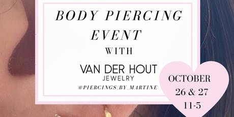 Body Piercing Event with Van Der Hout Jewelry tickets
