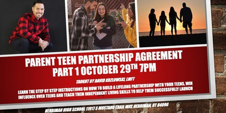 David Kozlowski, LMFT presents Parent Teen Partnership Agreement tickets