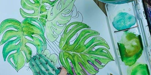 Paint-A-Plant! DIY Watercolor Workshop