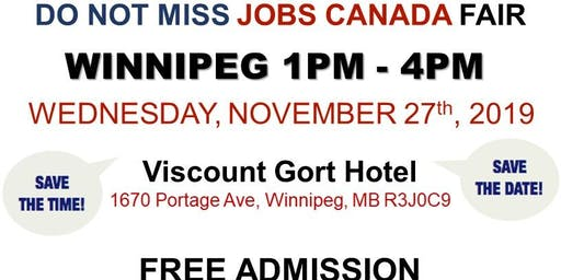 Winnipeg Job Fair – November 27th, 2019