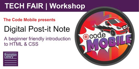 Tech Fair Workshop: Digital Post-It Note with the Code Mobile tickets