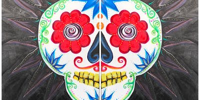 Sugar Skull Paint Night at La Mexicana