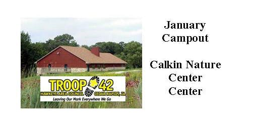 January 2020 Campout - Calkin Nature Center