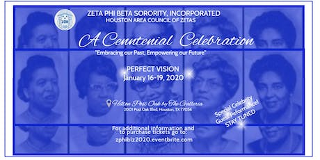 Centennial Celebration Hosted By Houston Area Council of Zetas tickets