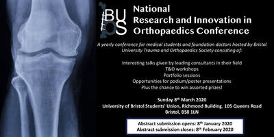 National Research and Innovation in Orthopaedics Conference 2020