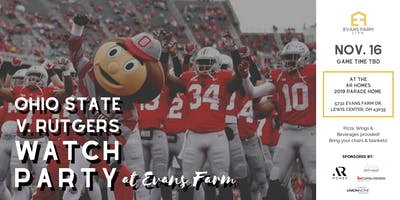 Ohio State v Rutgers Watch Party at Evans Farm