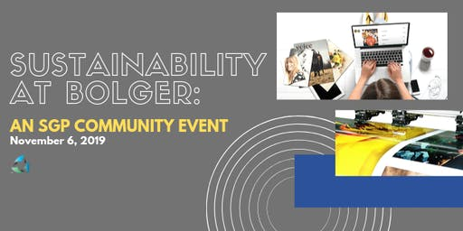 Sustainability at Bolger: An SGP Community Event