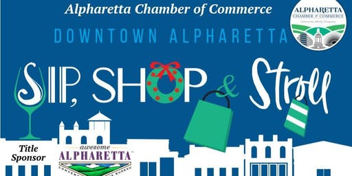 Sip, Shop & Stroll Downtown Alpharetta Holiday Cheer