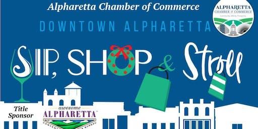 Sip, Shop & Stroll Downtown Alpharetta Holiday Cheer