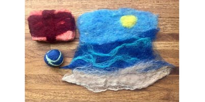 Wet Felting 101 with Kira Dulaney - Absolute Beginner Fiber Arts Class, Ages 8+ (2019-11-23 starts at 11:30 AM)