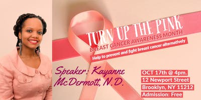 Turn up the Pink: Breast Cancer Awareness Month.