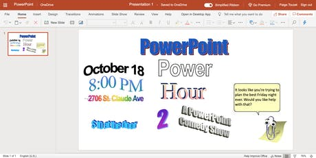 Power Point Power Hour (Live Comedy) tickets