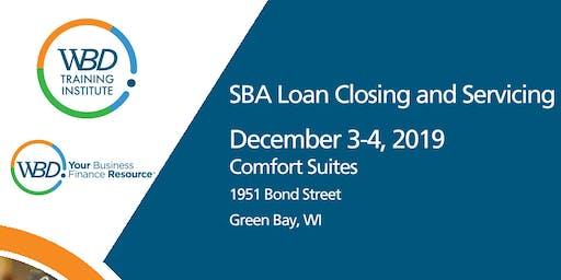 WBD Training - SBA Loan Closing and Servicing - Green Bay  - December 3-4