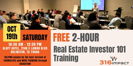 October 19th: FREE 2-HR Real Estate Investor 101 Training
