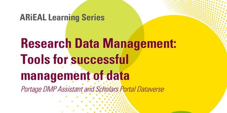 [ARiEAL Learning Series] Research Data Management tickets