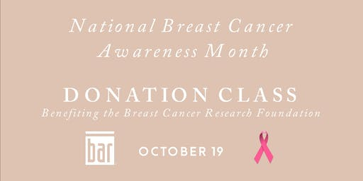 National Breast Cancer Awareness Month - Donation Class