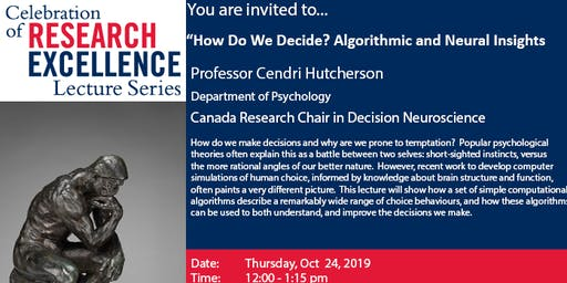 Celebration of Research Excellence Lecture-Cendri Hutcherson- Oct 24@noon