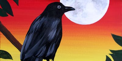 The Raven Paint Party at Brush & Cork