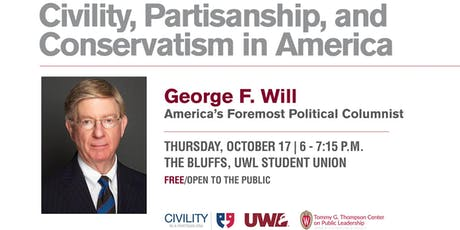 George Will - Civility, Partisanship, and Conservatism in America tickets