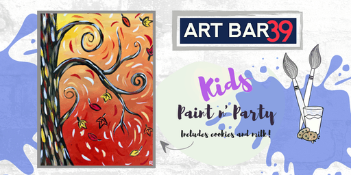 Kids Painting Party | Kids Autumn Tree | Includes Cookies & Milk!
