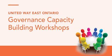 2019 Governance Capacity Building Workshop - Leading with Intent billets