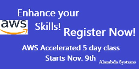 AWS Architect Certification Prep Accelerated 5 Day Class tickets