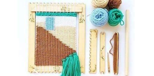 Beginning Weaving with Kira Dulaney - Absolute Beginner Fiber Arts Class, Ages 8+ (2019-11-10 starts at 2:00 PM)