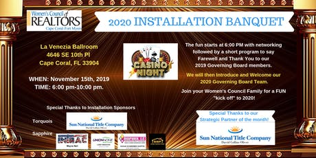 2020 Installation Banquet - Women's Council of REALTORS Cape Coral-Fort Myers tickets