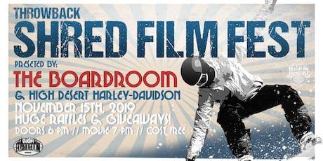 Shred Film Fest tickets
