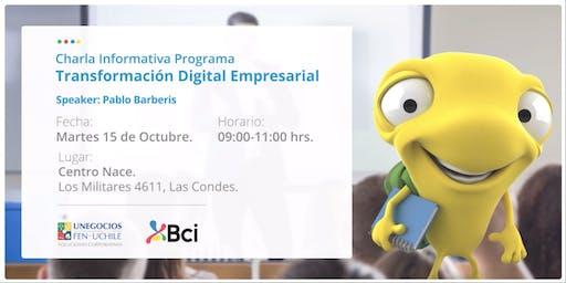 Charla Informativa: Programa Transformación Digital Empresarial